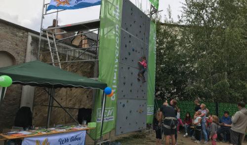 Artikelbild zu Artikel Alpenverein mit Kletterwand zum Stadtfest